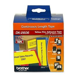 with Non-refillable Cartridge,1 Roll Label Orison-DK-2606 Continuous Length Film Label Compatible with DK2606 Yellow Tape 2.4 in x 50 ft 62 mm x 15.2 m