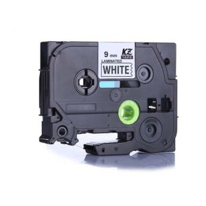 Brother TZe-221 P-touch Label Tape, 9mm (0.375 in), Length of 8M, Black on White, Compatible