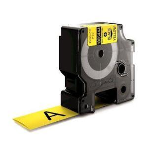 Dymo Rhino 1805444 Compatible Yellow Heat Shrink Tubing, 24mm, Black Text
