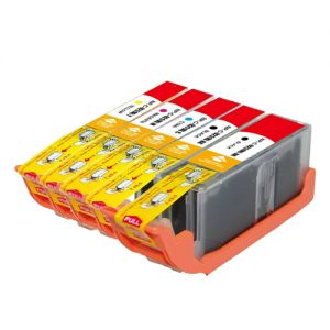Canon PGI-250XL Pigment Black & CLI-251XL BK/C/M/Y Compatible Ink Cartridge High Yield 5-Color Combo Set