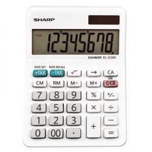 Sharp EL310WB EL-310WB Mini Desktop Calculator