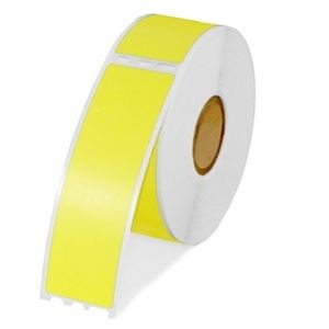 DYMO 30252 Labelwriter Self-Adhesive Address Yellow Labels 1 1/8- by 3 1/2-inch, 1 Roll, 350/roll, compatible