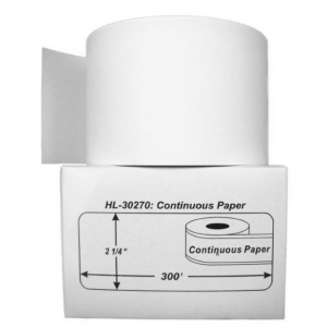 DYMO 30270 Continuous , 2 1/4 Inch x 300', Non-Adhesive Paper Roll, Compatible