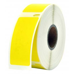 DYMO 30336 LabelWriter Self-Adhesive Multi-Purpose Labels, 1- by 2 1/8-inch, Roll of 500, Yellow