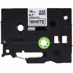 Brother TZe-241 P-Touch Label Tape, 18mm (0.75 Inch), Length of 8M, Black on White, Compatible
