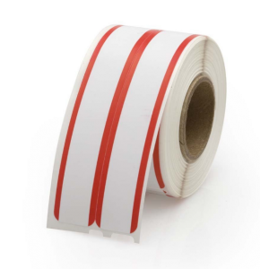 Dymo 30276 LabelWriter File Labels w/Red Stripe 2-up Labels 9/16 Inch x 3-7/16 Inch, White, 260 Labels, Compatible
