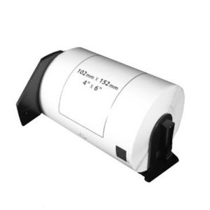 Brother DK1241 Large Shipping Die-Cut Labels 4 in x 6 in (102 mm x 152 mm) 200 Labels Per Roll Compatible