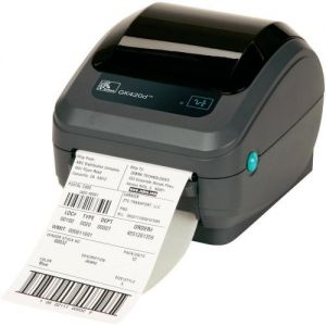 ZEBRA GK420D DIRECT THERMAL PRINTER, 203 DPI, DIRECT THERMAL, EPL AND ZPL, USB, SERIAL, CENTRONICS PARALLEL, 6FT USB CABLE INCLUDED