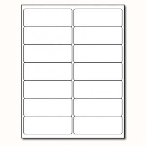 Laser Labels- White 4 Inchx1 1/2 Inch 14 labels pre sheet, Minimum Order Qty By 50, Qty Increment By 50