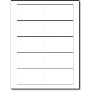 Laser Labels- White 3.5 Inchx2 Inch 10 labels pre sheet, Minimum Order Qty By 50, Qty Increment By 50