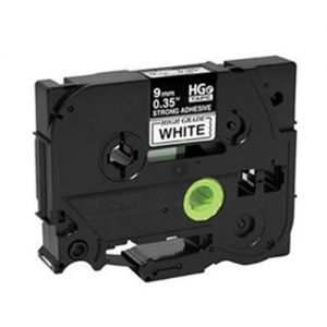 Brother HGeS221 High Grade 9mm Black on White P-touch Label Tape Length of 8m Compatible