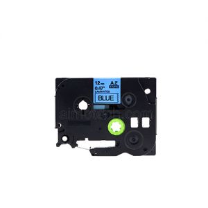 Brother TZe-531 12mm (0.5 Inch), Length of 8M, Black on Blue Compatible Label Tape