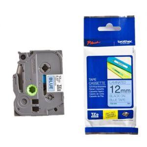 Brother TZe-531 12mm (0.5 Inch), Length of 8M, Black on Blue Label Tape Original