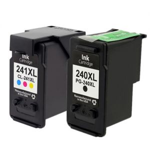 Canon PG-240XL CL-241XL Compatible Ink Cartridge High Yield Black and Color Combo