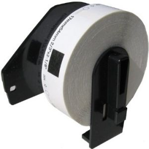 Brother DK1204 Large Multi-Purpose Die-Cut Labels 0.66 in x 2.1 in (17 mm x 54.3 mm)  400 Labels Per Roll,  Compatible