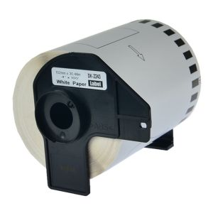 Brother DK2243 Wide Tape Continuous Labels 4 in x 100 ft  ( 101mm x 30.4m ) Compatible