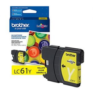 Brother LC61Y OEM Yellow Ink Cartridge