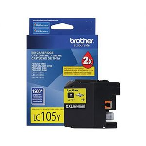 Brother LC105YS OEM Yellow Ink Cartridge  Super High Yield