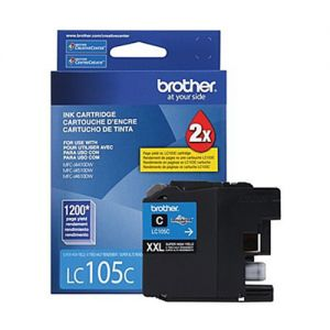 Brother LC105CS OEM Cyan Ink Cartridge  Super High Yield