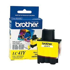 Brother LC41Y OEM Yellow Ink Cartridge