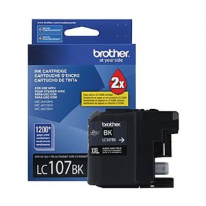 Brother LC107BKS OEM Black Ink Cartridge  EXTRA High Yield