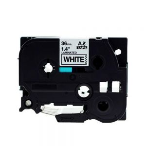 Brother TZe-261, Length of 8M, P-touch Label Tape, 36mm (1.5 Inch) Black on White, Compatible