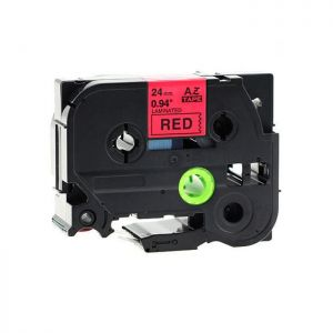 Brother TZe-451 24mm (1 Inch), Length of 8M, Black on Red Label Tape Compatible