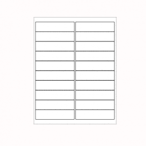 Laser Labels- White 4'x1 Inch 20 labels pre sheet, Minimum Order Qty By 50, Qty Increment By 50