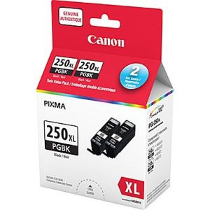 Canon PGI-250XL Original Black Ink Cartridge, Twin Pack (6432B010)