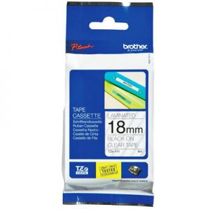 Brother TZe-141 18mm (0.75 Inch), Length of 8M, Black on Clear Label Tape Original