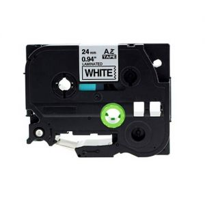 Brother TZe-FX251 24MM (1 Inch), Length of 8M Black on White Flexible Compatible Label Tape