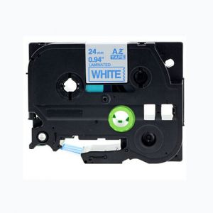 Brother TZe253 24MM (1 Inch), Length of 8M, Blue on White Compatible Label Tape