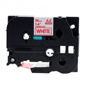 Brother TZe-262 Length of 8M, P-touch Label Tape, 36mm (1.5 Inch) Red on White,Compatible