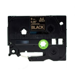 Brother TZe-324 9mm (0.375 Inch), Length of 8M, Gold on Black Compatible Label Tape