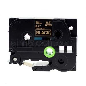 Brother TZe-344  Label Tape, 18mm (0.75 Inch), Length of 8M, Gold on Black, Compatible
