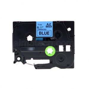 Brother TZe-511 P-Touch Label Tape, 6mm (0.25 Inch), Length of 8M, Black on Blue, Compatible