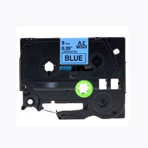 Brother TZe-521 9mm (0.375 Inch), Length of 8M, Black on Blue Compatible Label Tape