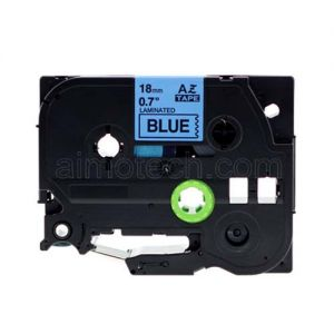 Brother TZe-541 18mm (0.75 Inch), Length of 8M, Black on Blue Compatible Label Tape