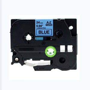 Brother TZe-551 24MM (1 Inch), Length of 8M, Black on Blue Compatible Label Tape