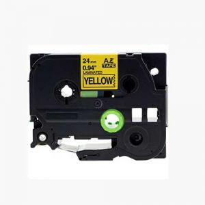 Brother TZe-651 24MM (1 Inch) , Length of 8M Black on Yellow Compatible Label Tape