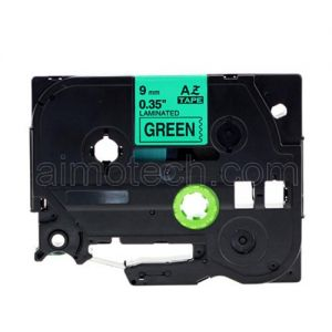 Brother TZe-721 9mm (0.375 Inch), Length of 8M, Black on Green Compatible Label Tape