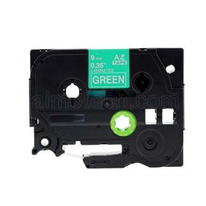 Brother TZe-725 9mm (0.375 Inch), Length of 8M, White on Green Compatible Label Tape