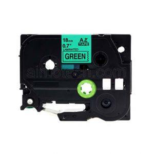 Brother TZe-741 18mm (0.75 Inch), Length of 8M, Black on Green Compatible Label Tape