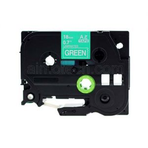 Brother TZe-745 18mm (0.75 Inch), Length of 8M, White on Green Compatible Label Tape