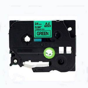 Brother TZe-751 24MM (1 Inch), Length of 8M, Black on Green Compatible Label Tape