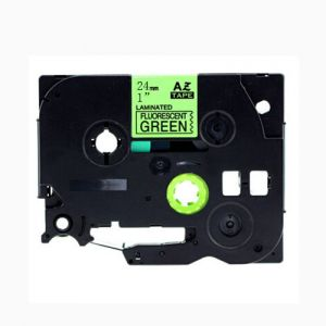Brother TZE-D51 Compatible Label Tape, 24mm, Length of 8M Black on Fluorescent Green