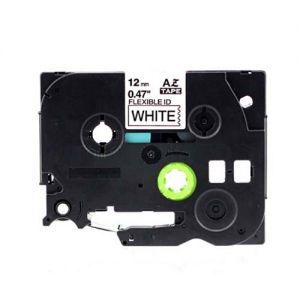 Brother TZe-FX231 12mm (0.5 Inch), Length of 8M, Black on White Compatible Label Tape