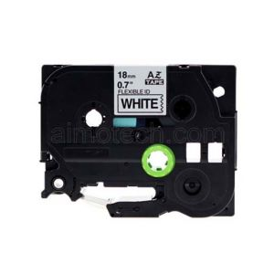 Brother TZe-FX241 18mm (0.75 Inch), Length of 8M, Black on White Flexible Compatible Label Tape