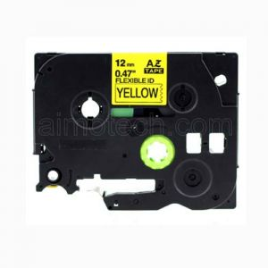 Brother TZe-FX631 12mm (0.5 Inch), Length of 8M, Black on Yellow Flexible Compatible Label Tape