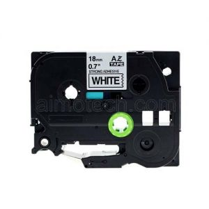 Brother TZe-S241 18mm (0.75 Inch) Black on White Strong Adhesive Compatible Label Tape